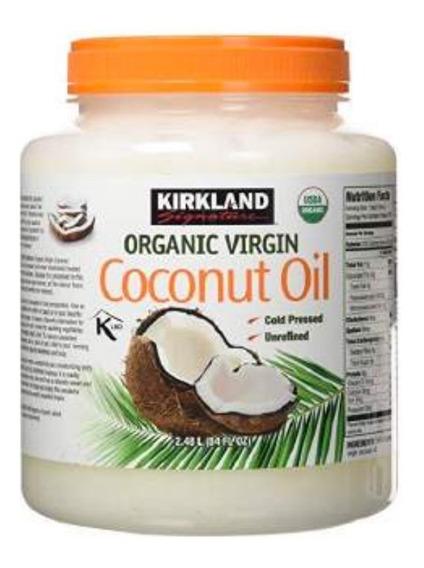 Aceite De Coco Orgánico Virgen, Kirkland, 2.48 L.