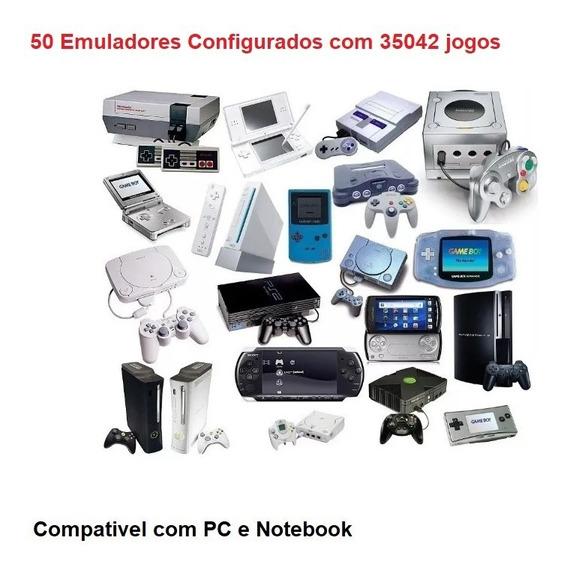 50 Emuladores Configurados Com 35042 Jogos