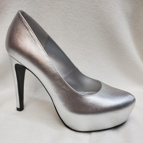 0f2e957f Zapatilla Elegantes Finas Cerradas - Zapatos Plateado en Mercado ...