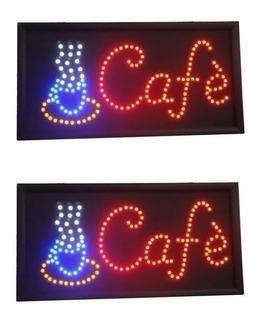 Cartel Led Luminoso Kiosco Abierto