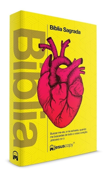 Biblia Coração Amarela Jesuscopy - Best Seller