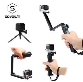 Bastão Tri Way TriPod Extensível Dobrável Para Câmeras Gopro