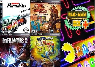 Pack Ps3 Burnout Paradise, Jak & Daxter , Earthworm, Pacman