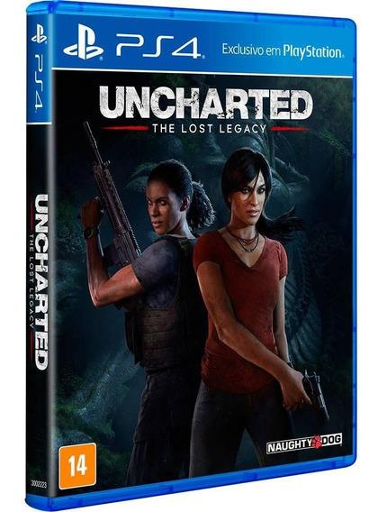 Uncharted Lost Legacy Ps4 Midia Fisica - Novo - Lacrado -