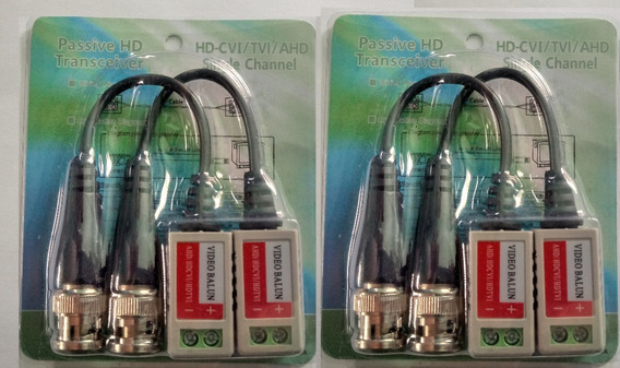 Passive Video Transceiver Video Balun Kit Com 2 Pares