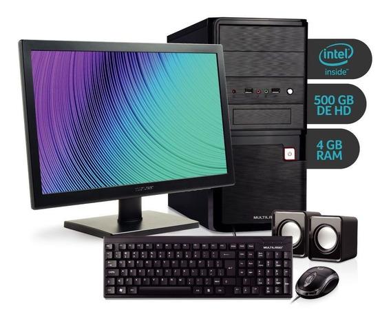 Computador Intel Celeron 4gb 500gb Hd 18,5 Multilaser Dt023