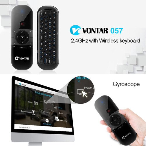 Vontar Mini Mouse Ar Recarregável Inglês Russo Teclado Sem F