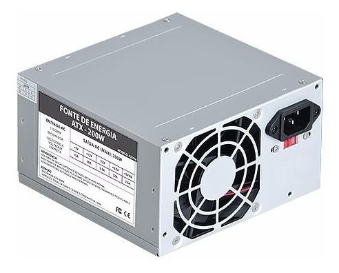 6 Un Fonte Atx 450w Nominal ( 200w Real) Computador