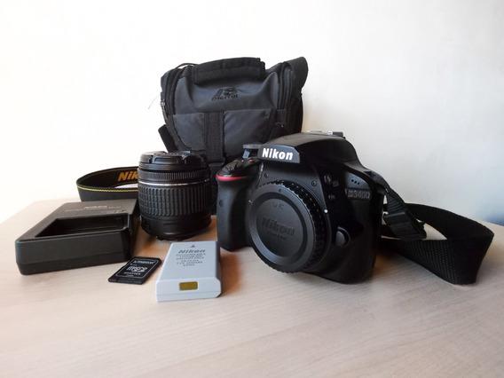 Cámara Reflex Nikon D3400 + Lente 18-55mm + Bolso + Sd 32gb