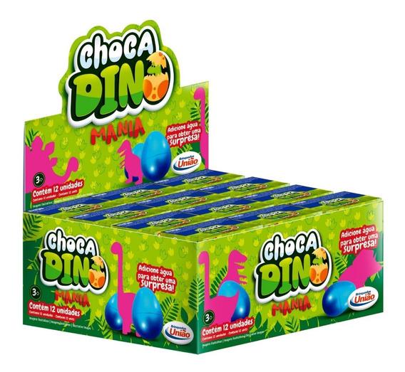 Ovo Choca Dino Mania, Cresce Na Agua. Com 12 Unidades