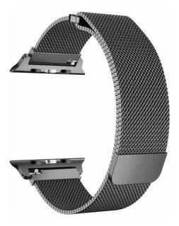 Malla Correa Milanese Loop Apple Watch 42 Y 44 Mm Space Gray