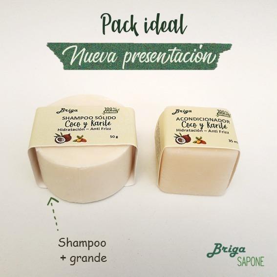 Shampoo Solido Y Acondicionador Pack Coco Y Karité Antifrizz