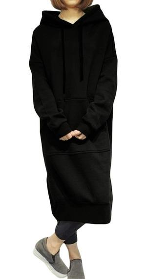 Novo Mulheres Solto Longo Suéter Moletom Suéter Vestido Sóli