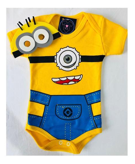 Body Bebê - Minions - Menino - Mesversario - Minions