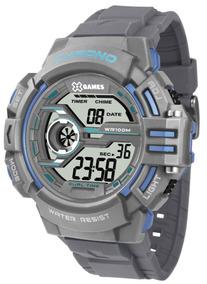 Relógio X-games Masculino Cinza Digital Xmppd501bxgx