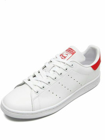 Tenis adidas Couro Original Branco/vermelho