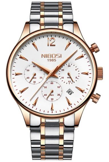 Relógio Nibosi Luxo Original Funcional Pronta Entrega 23261