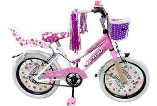 Bicicleta Infantil Futura R16 Nena Bmx Canasto Rueditas 4045