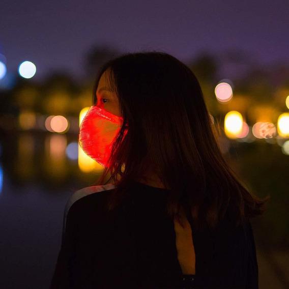 Máscara De Fibra Óptica Led