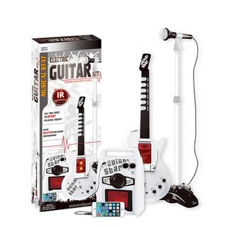 Guitarra Electrica Con Microfono Blanca Juguete Parlante