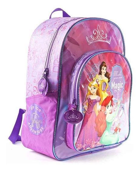 Mochila Espalda Escolar Princesas 16p Original Viole Oferta
