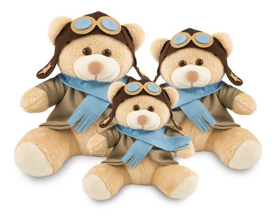 Ursinhos Para Decoração Infantil Aviador 20, 25 E 30cm