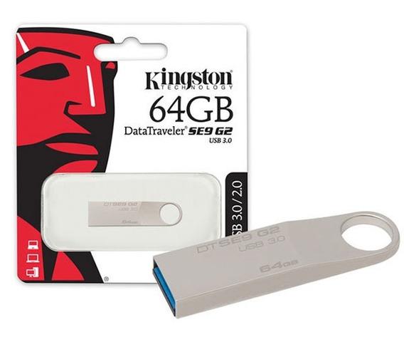 Pendrive 64gb Kingston Se9 G2 3.0 Original Lacrado