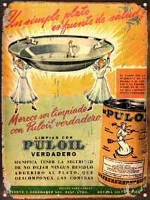 Chapa Publicidad Antigua Jabon Puloil L678