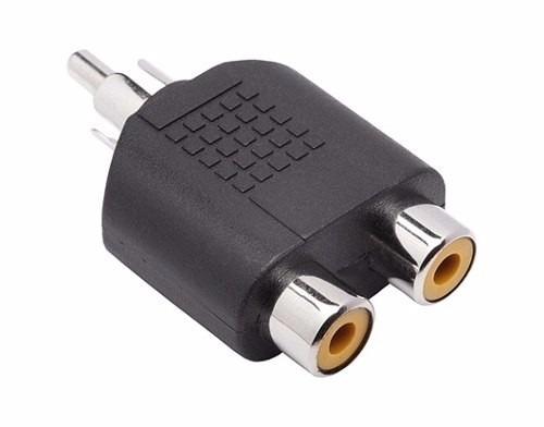 Adaptador Plug Rca M Para 2 Jack Rca F Com 5 Peças 9167