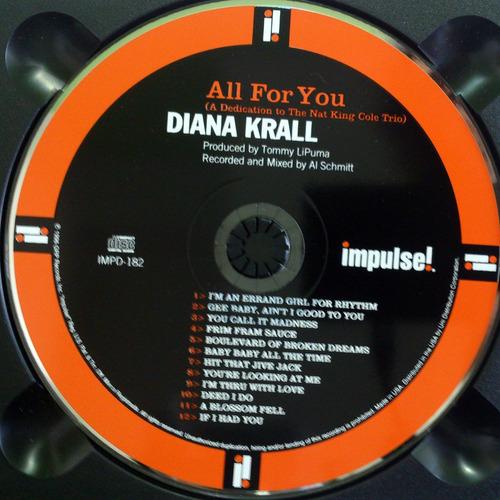 Cd Diana Krall All For You Nat King Cole Cd Importado Mercado Livre