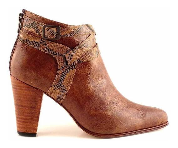 Bota Botineta Mujer Briganti Zapato Base Suela - Mcbo24809