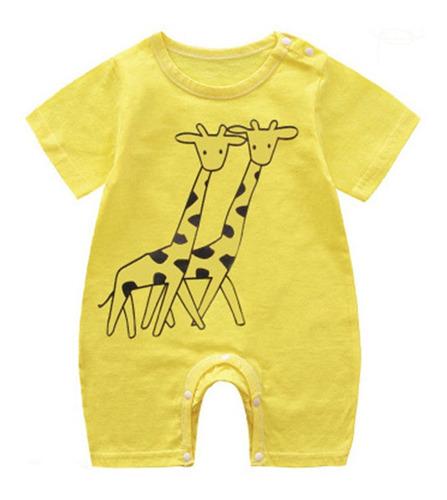 Imagen 1 de 7 de Bebé Recién Nacido Diseño Caricatura Mameluco Body