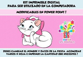 Kit Imprimible Gatita Marie Cumpleanos En Mercado Libre