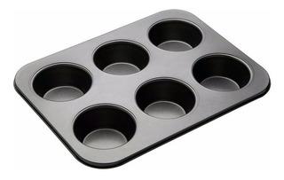 Molde 6 Cupcake Muffins Teflón Repostería Fiestaclub
