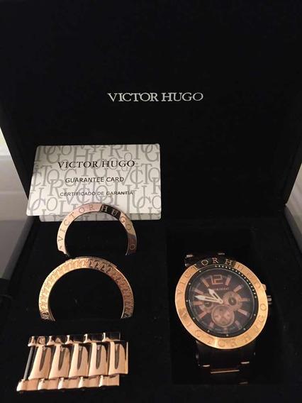 Relógio Victor Hugo Rose Original!