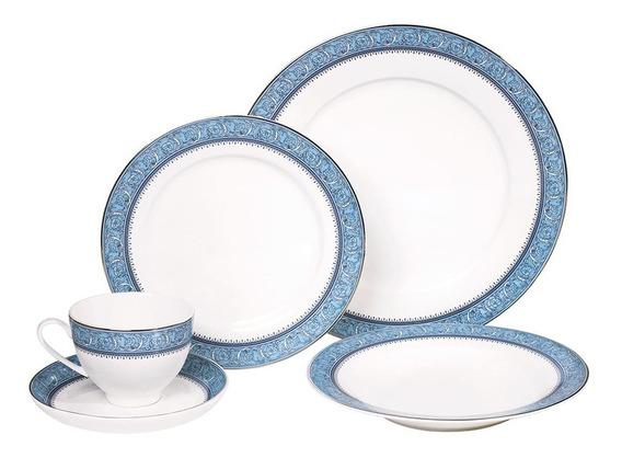 Jogo De Jantar 30 Pcs Cozinha Porcelana Xicara Pires Prato