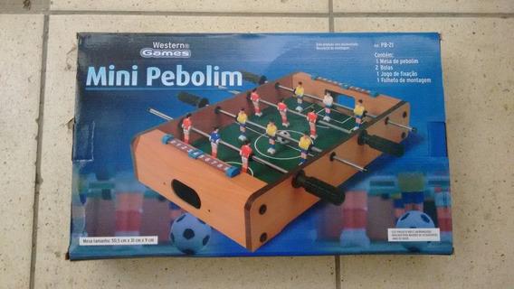 Jogo Mini Mesa Pebolim Western Games