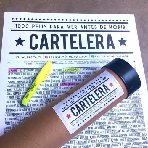 Cartelera, Poster Con 1000 Pelis Para Ver Antes De Morir!