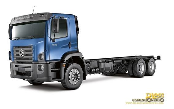 Volks 24.280 - 6x2 - 2012 - Chassi - Cab. Simples Baixo Km