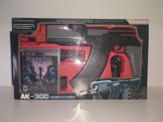 Metralhadora Ak 300 + Jogo Resident Evil Operation Raccoon
