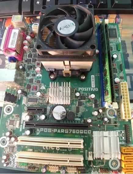 Kit Completo Placa Mãe Pos-pars760gcd Phenom X2 Ii 555 3.2ghz + 8gb 2x4