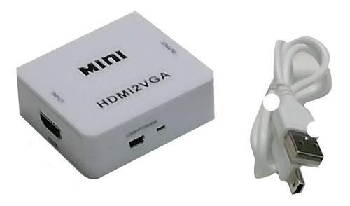 Mini Comversor Hdmi P/2vga Compatível Ps4 Ps3 Xbox 360 One