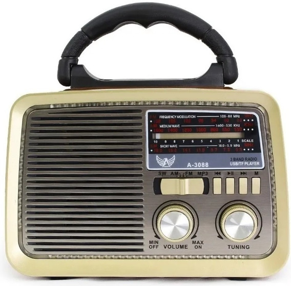Rádio Retrô Antigo Vintage A3199 Altomex Fm Am Sd Mp3 Novo