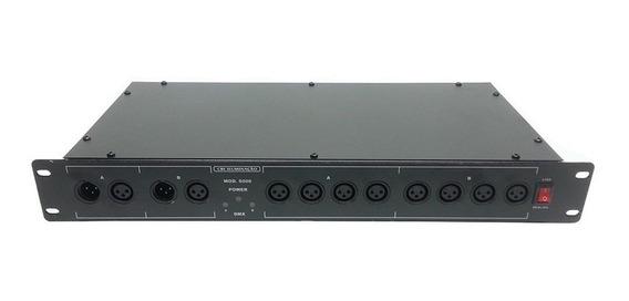 Spliter Dmx 8 Saídas (2 Entrada / 8 Saidas) Amplificador De Sinal Dmx Original Cbi - Nfe - Pronta Entrega - Envios Full