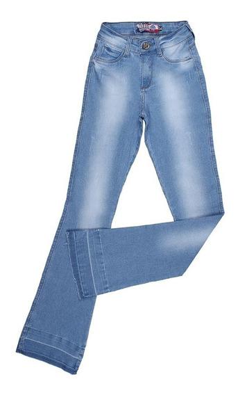 Calça Flare Jeans Claro Rodeo Western Feminina 24606
