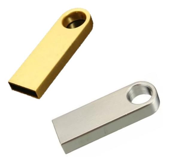 Pendrive 32gb Compacto Dourado E Prata Original Env Imediato