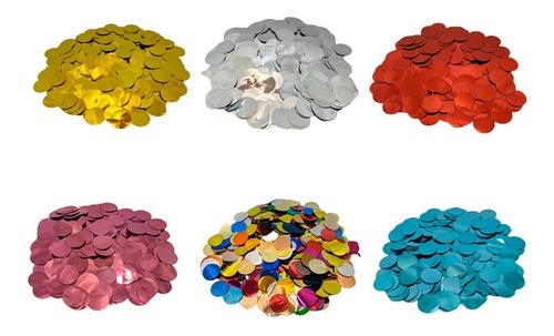 Confete Para Balão Bexiga - Redondo - Metalizado 30g
