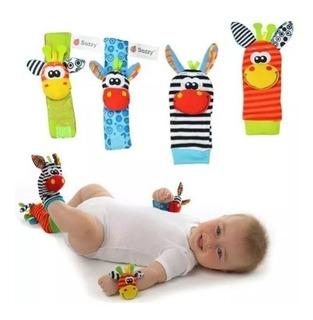 Medias Y Manillas De Estimulación Temprana Para Bebes +envío