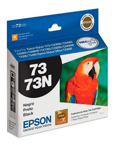 Cartucho De Tinta Epson 73 73n T073120 Negro Original