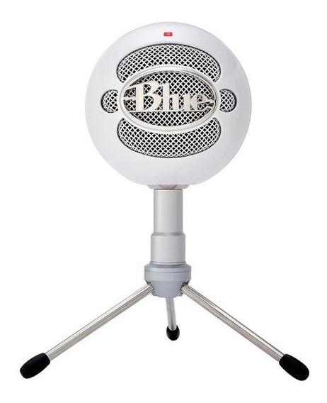 Microfone Condensador Cardióide Blue Snowball Ice Branco